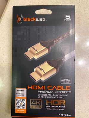 Black web HDMI cable for Sale in Houston, TX