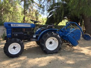 Iseki Bolens TX1210 4X4 compact tractor with PTO driven tiller for Sale in Simi Valley, CA
