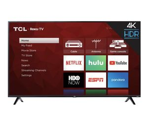 "TCL - 50"" Class - LED - 4 Series - 2160p - Smart - 4K UHD TV with HDR - Roku TV for Sale in Los Angeles, CA"