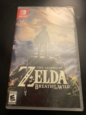 The legend of Zelda breath of the wild Nintendo switch for Sale in Wilmington, MA