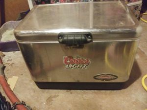 Coors light Coleman silver cooler for Sale in Abilene, TX
