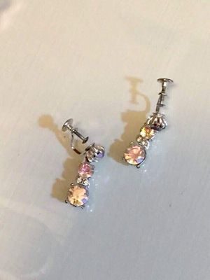 Vintage Aurora Borealis Crystal Earrings for Sale in Herndon, VA