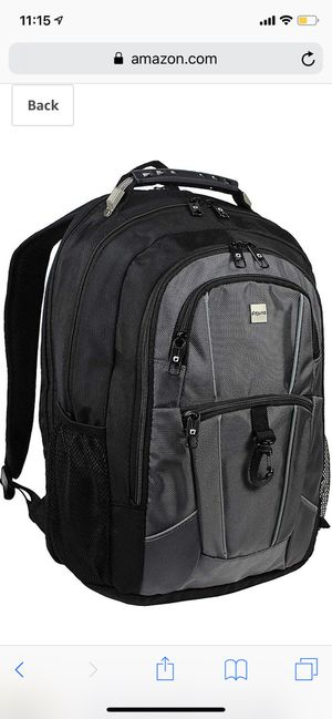 """Dejuno Commuter BackPack (Black and Grey) with 15.6"""" laptop pocket for Sale in Revere, MA"""