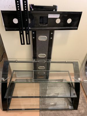 "Modern glass TV stand the will take up to 65"" TV for Sale in Missoula, MT"