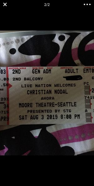 Christian Nodal: 3 tickets in total and parking in Seattle for Sale in Pasco, WA
