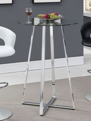 New chrome glass table for Sale in Fort Pierce, FL