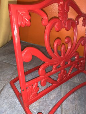 Red Metal Book. Bible. Recipe Book Holder. Stand. for Sale in Covina, CA