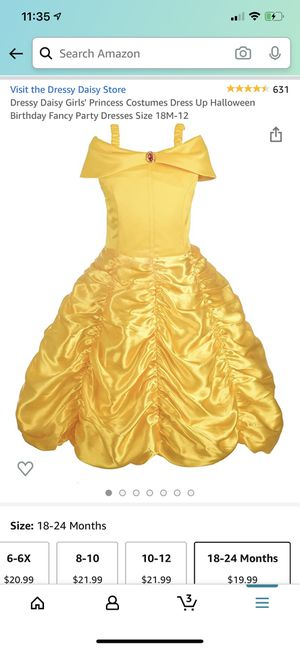 Bell costume 18-24M for Sale in Grove City, OH