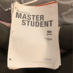 Becoming A Master Student 16th Edition College Text Book for Sale in Phoenix,  AZ