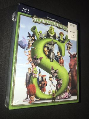 Shrek Movies Blue Ray The Whole Story Collection Sealed in Manufacturing Plastic for Sale in Fontana, CA