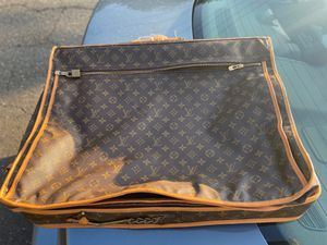 Louis Vuitton Monogram Garment Carrier Brown Coated Canvas Weekend/Travel Bag for Sale in Hartford, CT