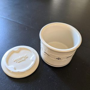 Longaberger Crock with Lid (One Pint) for Sale in Fort Worth, TX