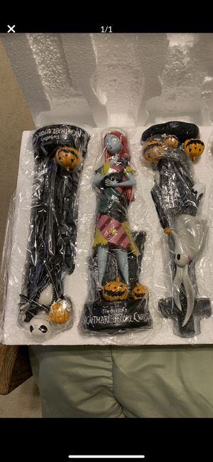 Nightmare before Christmas figurines set of 3 for Sale in Massapequa, NY