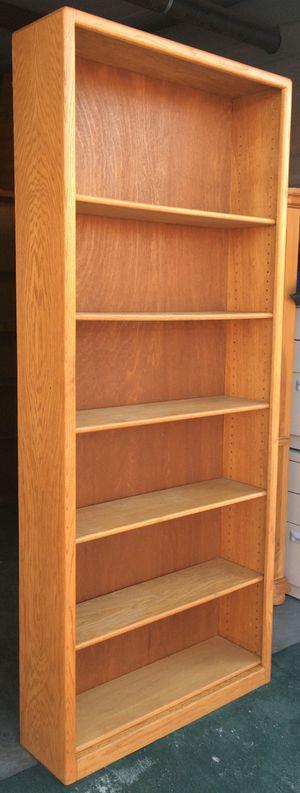 7 Tier Oak Bookcase / Bookshelf / Storage Display Shelves for Sale in Lakeville, MN