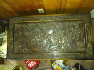 Vintage Hand Carved Chest Trunk for Sale in Phoenix, AZ
