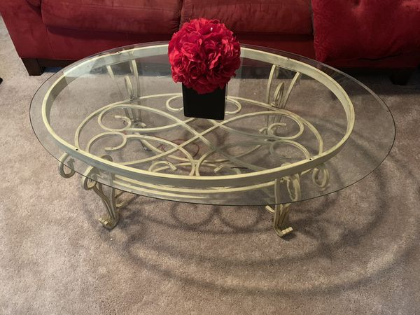 Two end tables, coffee table and sofa table