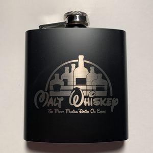 Malt Whiskey (Walt Disney) Laser Engraved Flask—-Instagram: @MRtheArtist for Sale in Sayville, NY