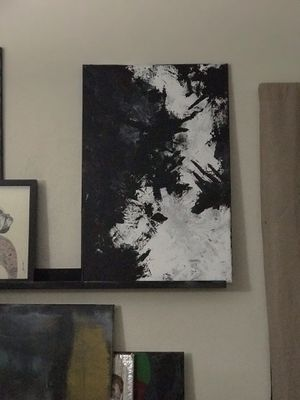 Abstract Art/ Contemporary Art - Black and White for Sale in Hialeah, FL