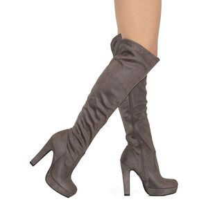 READ DETAILS! size 11 charcoal suede thigh high boots for Sale in Arlington, TX