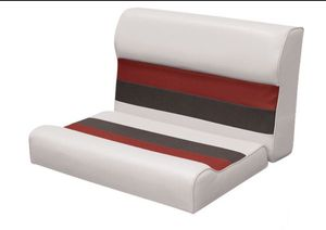 """Deluxe Series Pontoon 28"""" Bench Seat and Backrest Cushion Set Only, Color: White/Red, A17-267 for Sale in St. Louis, MO"""