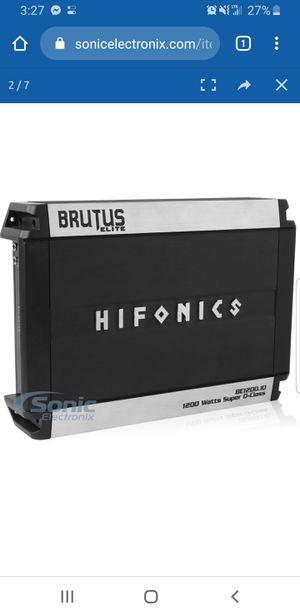 Hifonics Brutus Elite BE1200.1D Car Amplifier for Sale in Hartford, CT