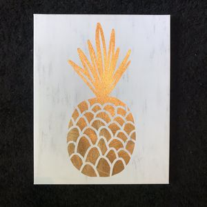 ❌ NEW ❌ Vintage Gold pineapple canvas wall hanging Room Decor ikea Walmart target home interior pbteen for Sale in Chesapeake, VA