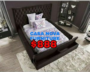 BRAND NEW BED FRAME QUEEN COMES IN BOX 📢📢📢📢📢MATTRESS INCLUDED 📢📢📢📢📢IN STOCK 📢📢📢📢📢 for Sale in Compton, CA