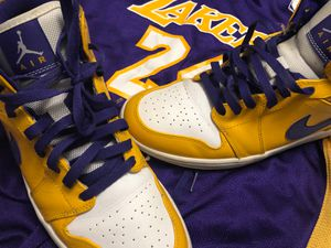 Lakers Edition Jordan 1s and a Jersey ‼️ for Sale in Clearwater, FL