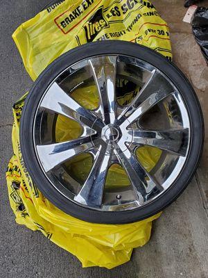 20 inch chrome rims for Sale in Auburn, WA