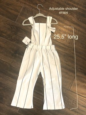 2T white and black striped overalls for Sale in Gilbert, AZ