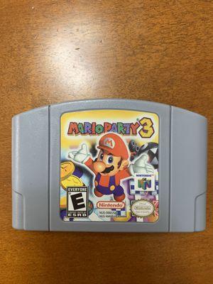 Mario Party 3 Nintendo 64 for Sale in Miami Lakes, FL
