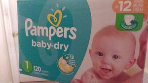 Pampers baby dry (120 diapers) for Sale in Burtonsville, MD