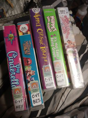 Lot of 5 Classic Muppet show VHS video tapes. See attach. Picture for more info for Sale in Pahrump, NV