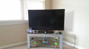 Westinghouse 50 inch TV with glass stand for Sale in Cary, NC