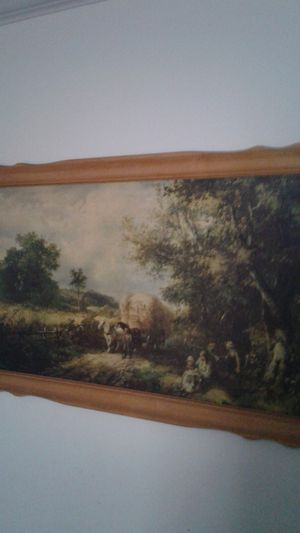 Very old artwork Pioneers Covered wagon for Sale in Tempe, AZ