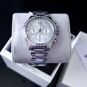 Michael Kors Women's Chronograph Crystal Stainless Steel Watch for Sale in Alexandria, VA