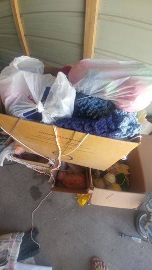 Several boxes of yarn for Sale in Ottumwa, IA