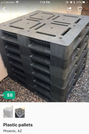 Heavy Duty plastic pallets for under sheds keep stuff off floor for Sale in Phoenix, AZ