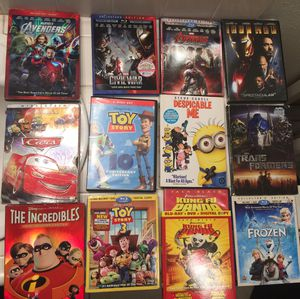 13 DVD's, BluRay Movies $23.00 OBO Digital Codes not included pick up Cornelia & Dakota All for one price for Sale in Fresno, CA
