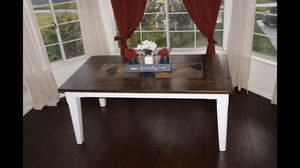 Solid wood table with slate in the top,4 chairs for Sale in Norco, CA
