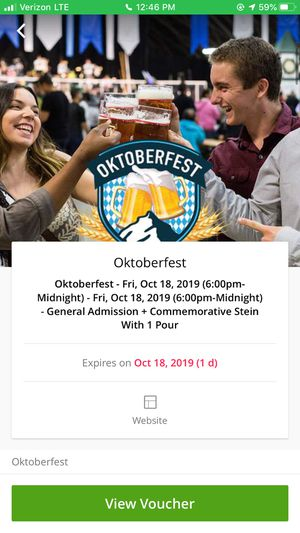3 Octoberfest In Pomona Admissions With Stein Beers for Sale in Fontana, CA