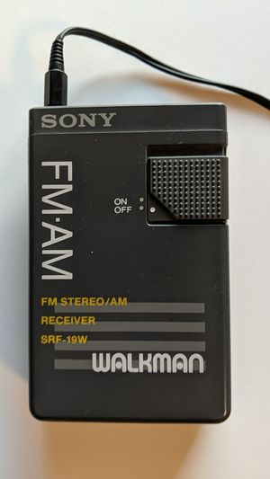 Vintage Sony Walkman SRF-19W FM/AM Receiver w/ Original Headphones - Tested for Sale in Glendale, AZ