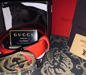 Gucci belt red for Sale in Houston, TX