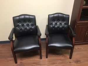 Office Accessory Black Leather Chairs for Sale in Houston, TX