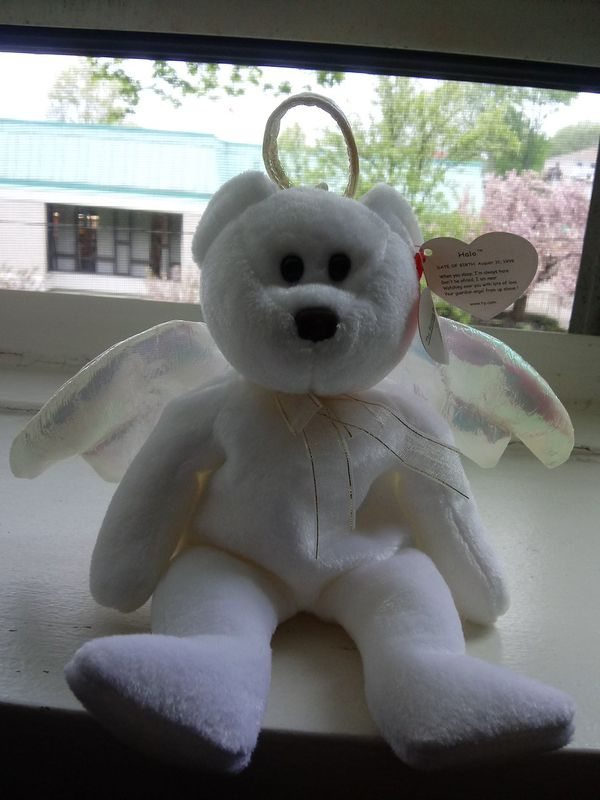 ****BEANIE BABIE 1998 TY 'HALO' RARE MINT CONDITION****