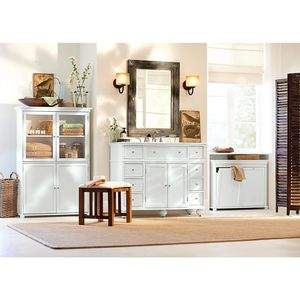 Home Decorators Collection Hampton Harbor 45 in. W x 22 in. D Vanity in Sequoia with Granite Vanity Top in white with White Sink for Sale in Dallas, TX