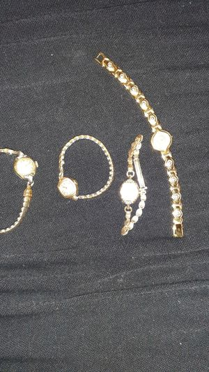 3 antique gold watchs and 1 gold with dimond for Sale in Eugene, OR