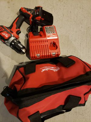 Milwaukee drill battery and charger new never used for Sale in Riverside, CA