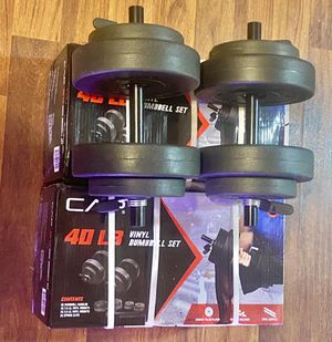 Adjustable Dumbbell 40lbs Vinyl set by Cap (NEW) for Sale in Laveen Village, AZ
