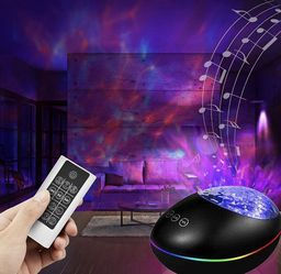 Star Galaxy Light Projector with Bluetooth Speaker, Ocean Wave Projector Night Light Built-in Music Player, Sleep Timer & Remote Control,8 Starlight L for Sale in Alhambra,  CA
